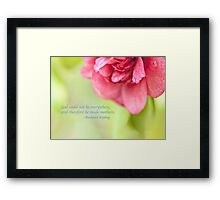 Mothers Day Pink Quote Framed Print