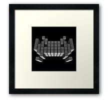 Cubic Invader Framed Print