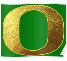 University of Oregon Ducks Gold Poster