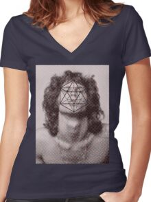 Morrison´s icosahedron Women's Fitted V-Neck T-Shirt
