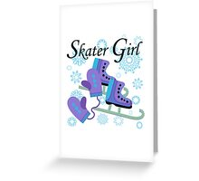 Ice Skating Skater Girl Greeting Card