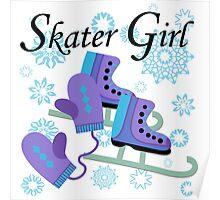 Ice Skating Skater Girl Poster