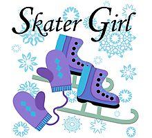 Ice Skating Skater Girl Photographic Print