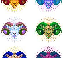 Electric sheep sticker set 2 by psychonautic