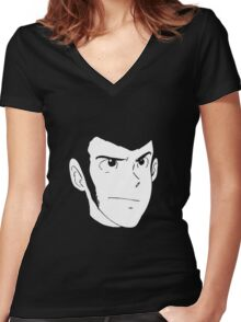 Lupin The Third Women's Fitted V-Neck T-Shirt