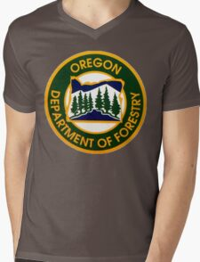 Oregon Department of Forestry Mens V-Neck T-Shirt