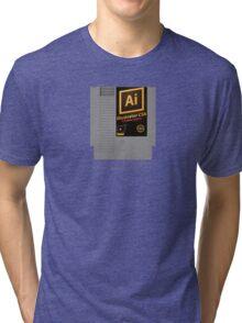 NES Cartridge - Illustrator CS6 Tri-blend T-Shirt