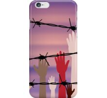 Hands Behind a Barbed Wire iPhone Case/Skin