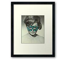 Rocio Durcal´s mask Framed Print