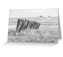 Prairiehenge - BW Greeting Card