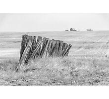Prairiehenge - BW Photographic Print