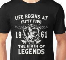 LIFE BEGINS AT 1961 Unisex T-Shirt