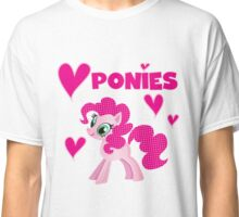Pretty Pink Pony I Love Ponies Classic T-Shirt