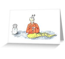 Thich Quang Slug Greeting Card