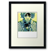 Woman haze all in my brain. Framed Print