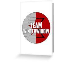 Team WinterWidow Greeting Card
