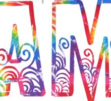 CAMP rainbow tiedye outline Sticker
