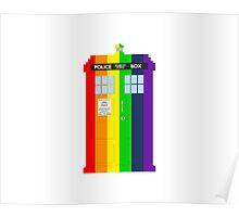 Rainbow Tardis Poster