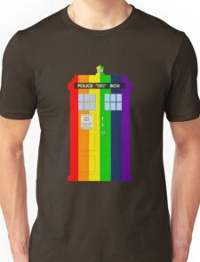 Rainbow Tardis Unisex T-Shirt