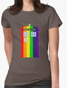 Rainbow Tardis Womens Fitted T-Shirt