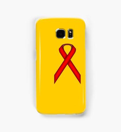 Red Standard Ribbon Samsung Galaxy Case/Skin
