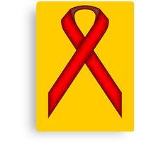 Red Standard Ribbon Canvas Print