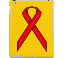 Red Standard Ribbon iPad Case/Skin