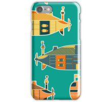 Seamless pattern with submarine iPhone Case/Skin