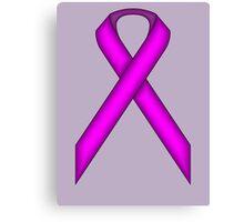 Purple Standard Ribbon Canvas Print