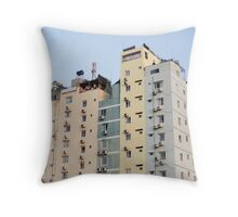 MORE BUILDING IN TOWN Throw Pillow