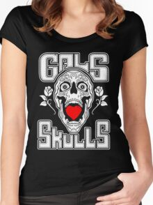 Gals love Skulls  Women's Fitted Scoop T-Shirt