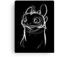 Toothlessketch Canvas Print