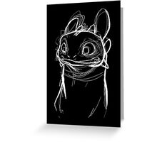 Toothlessketch Greeting Card