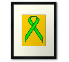 Lime Green Standard Ribbon Framed Print