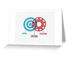 Civil War - A Diagram Greeting Card