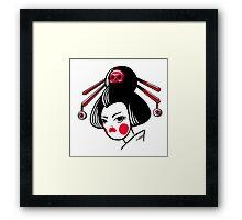 Skull geisha Framed Print