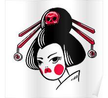 Skull geisha Poster