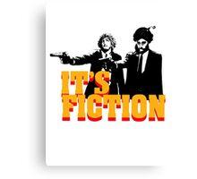 It's Fiction - Pulp Fiction Atheism Parody  Canvas Print