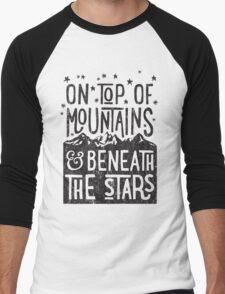 On Top Of Mountains Men's Baseball ¾ T-Shirt