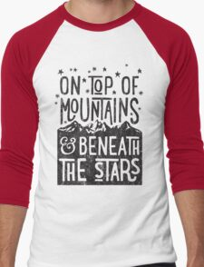 On Top Of Mountains Men's Baseball ¾ T-Shirt