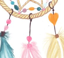 Bright watercolor boho dreamcatcher feathers Sticker