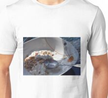 A bowl of cereals and yogurt. Unisex T-Shirt