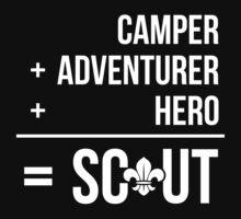 Camper, Adventurer, Hero = Scout One Piece - Long Sleeve