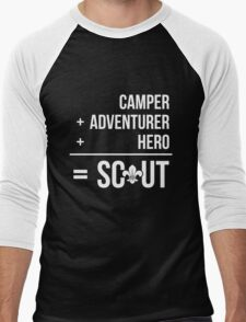 Camper, Adventurer, Hero = Scout Men's Baseball ¾ T-Shirt