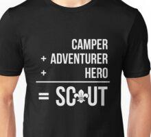 Camper, Adventurer, Hero = Scout Unisex T-Shirt