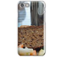 Lunch with pasta, bread, vegetables and orange juice. iPhone Case/Skin