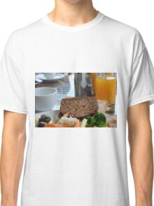 Lunch with pasta, bread, vegetables and orange juice. Classic T-Shirt