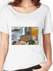 Lunch with pasta, bread, vegetables and orange juice. Women's Relaxed Fit T-Shirt