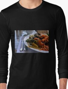 Healthy lunch with beans, vegetables, pasta. Long Sleeve T-Shirt