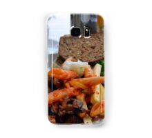 Lunch with pasta, bread, vegetables and orange juice. Samsung Galaxy Case/Skin